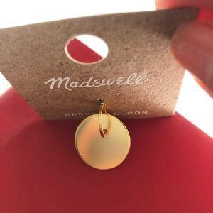 NWT Madewelll single gold earrings